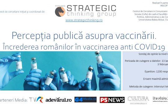 11 FEBRUARIE 2021: Percepția publică asupra vaccinării. Încrederea românilor în vaccinarea anti COVID19