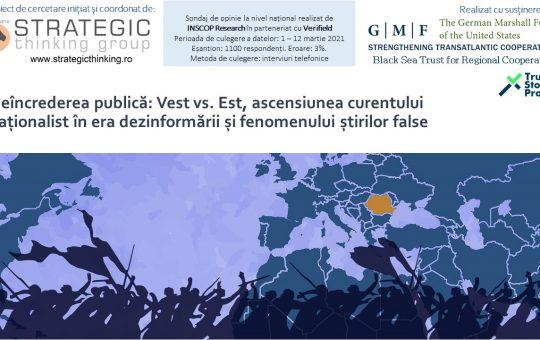 02 aprilie 2021 – Neîncrederea publică: Vest vs. Est, ascensiunea curentului naționalist în era dezinformării și fenomenului știrilor false